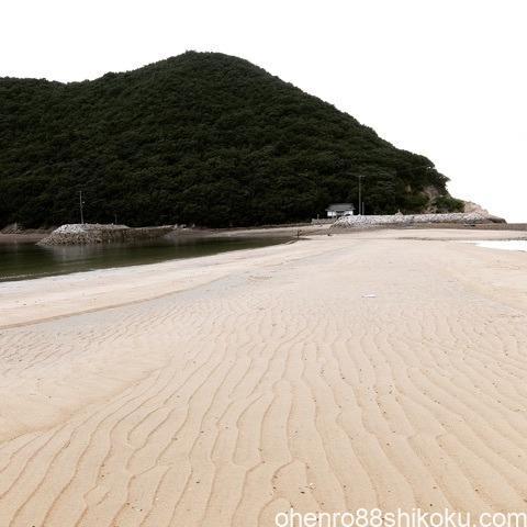 丸山島の砂紋