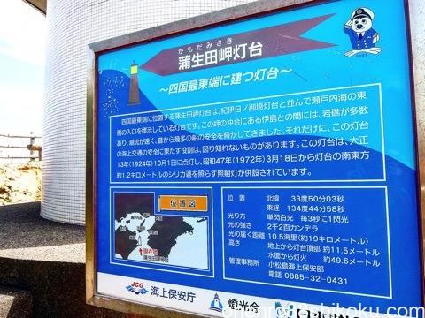 蒲生田岬の灯台の看板