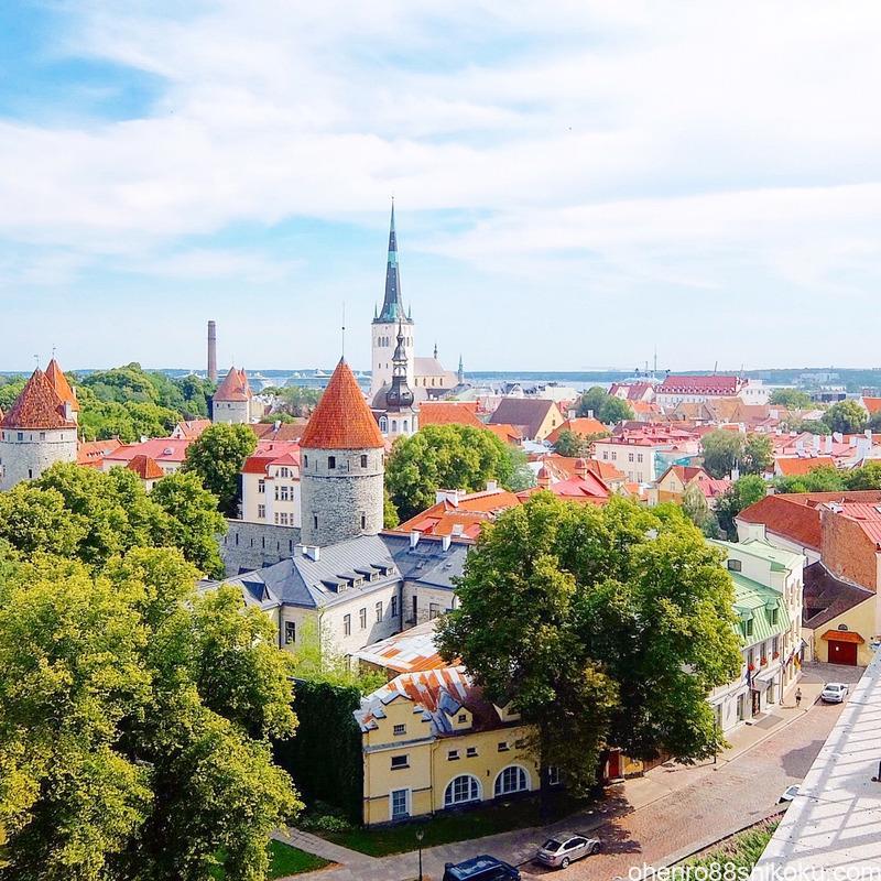 パットクリ展望台からの旧市街の眺め