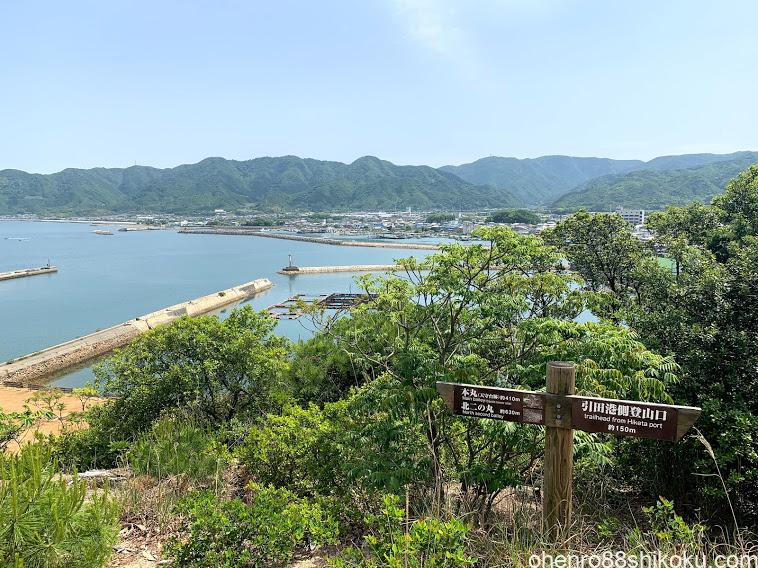 引田城から引田港の眺め