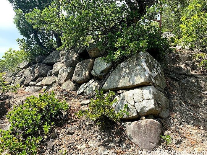 引田城の本丸の石垣