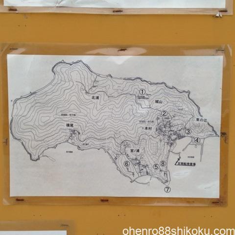 志々島の地図