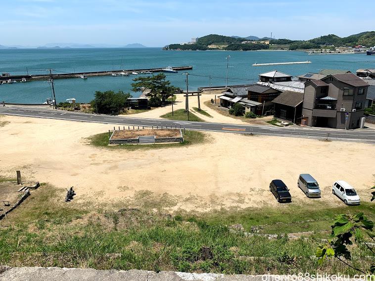池田の桟敷からの景色