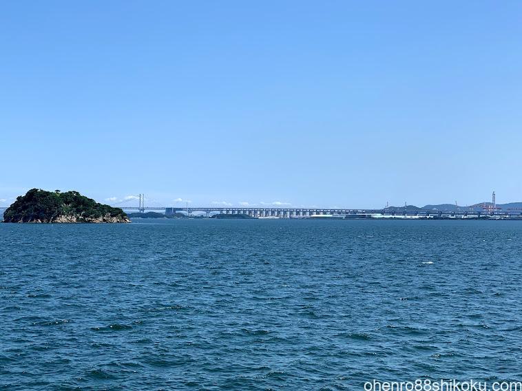 本島フェリーからの眺め