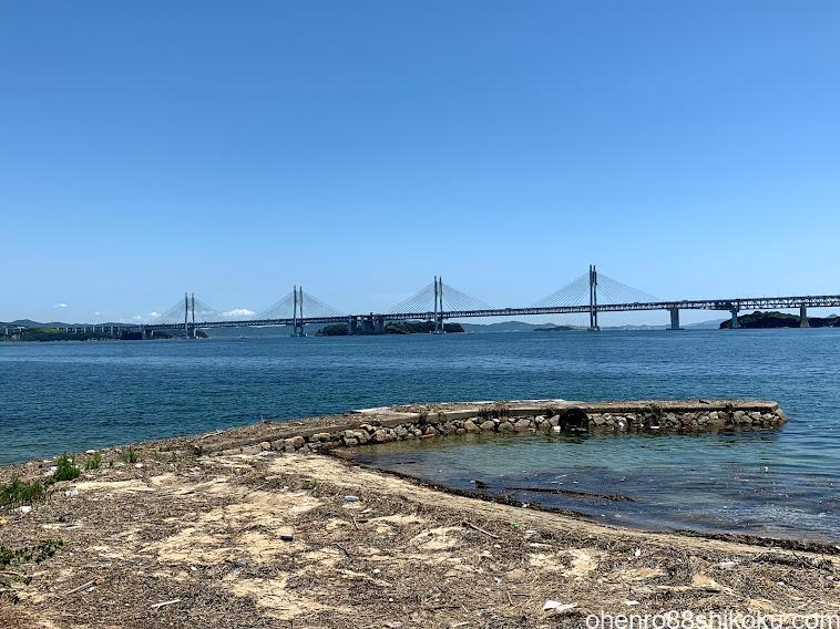本島から瀬戸大橋