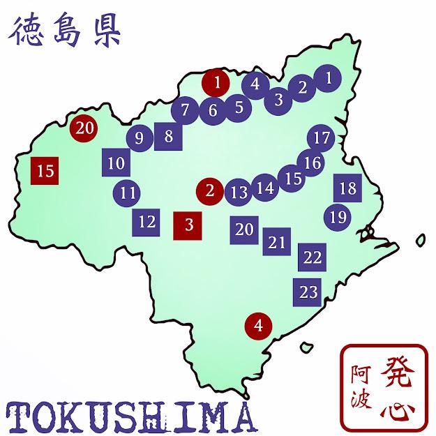 徳島八十八ヶ所地図